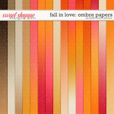 Fall in Love: Ombre Papers by Kristin Cronin-Barrow
