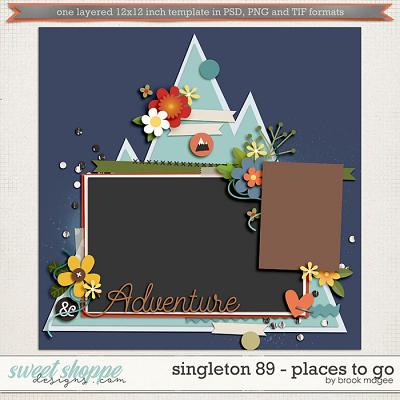 Brook's Templates - Singleton 89 - Places to Go by Brook Magee