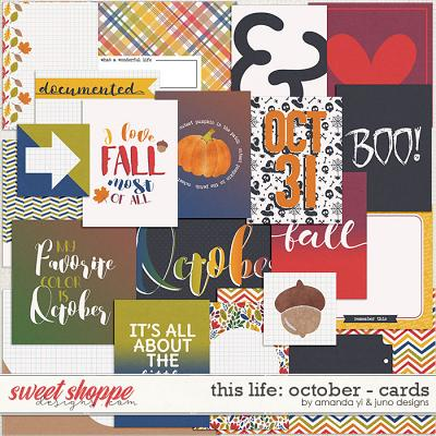 This Life: October - Cards by Amanda Yi & Juno Designs