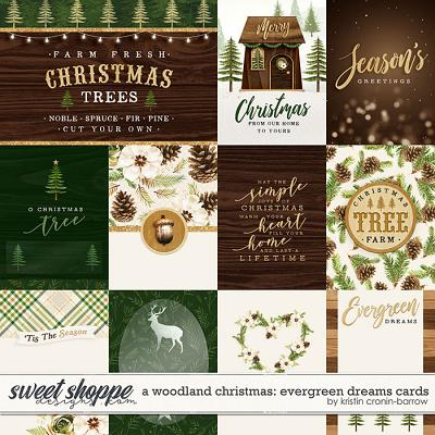 A Woodland Christmas: Evergreen Dreams Cards by Kristin Cronin-Barrow
