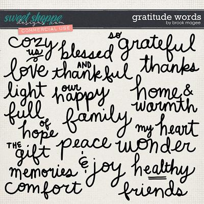 Gratitude Words - CU - by Brook Magee