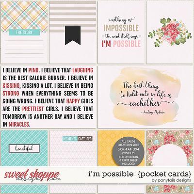 I'm Possible Pocket Cards by Ponytails