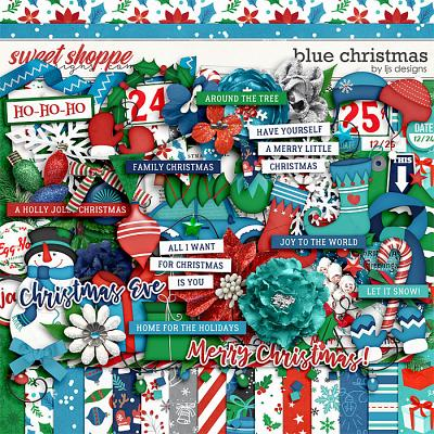 Blue Christmas by LJS Designs
