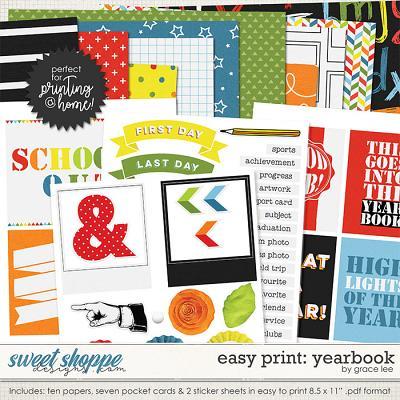 Easy Print: Yearbook by Grace Lee