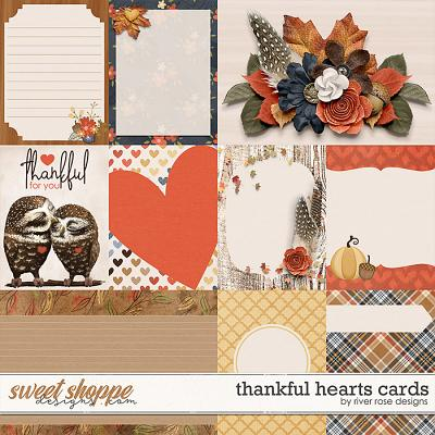 Thankful Hearts Cards by River Rose Designs