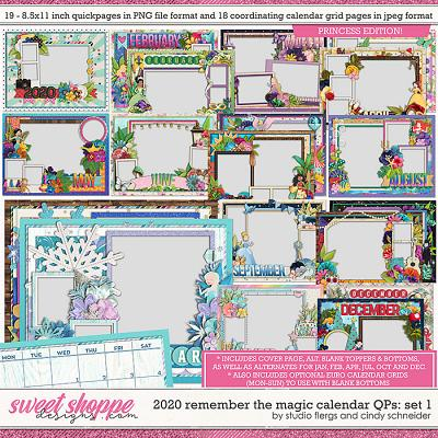 2020 Remember the Magic Calendar Quickpages: Set 1 by Cindy Schneider and Studio Flergs