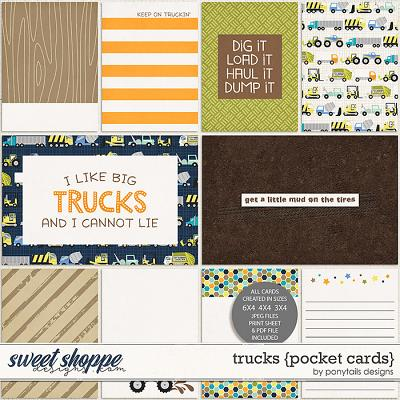 Trucks Pocket Cards by Ponytails