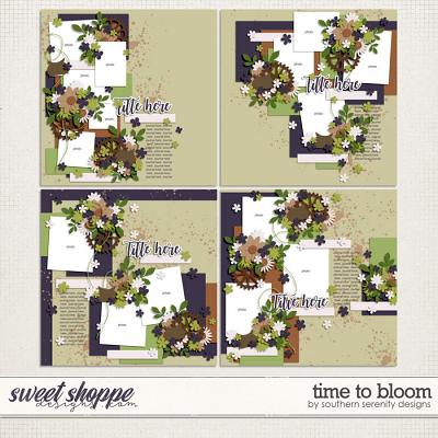 Time to Bloom Layered Templates by Southern Serenity Designs
