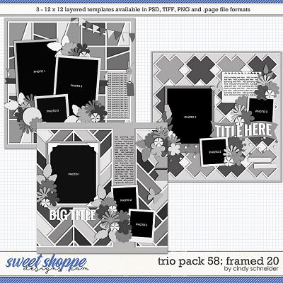 Cindy's Layered Templates - Trio Pack 58: Framed 20 by Cindy Schneider