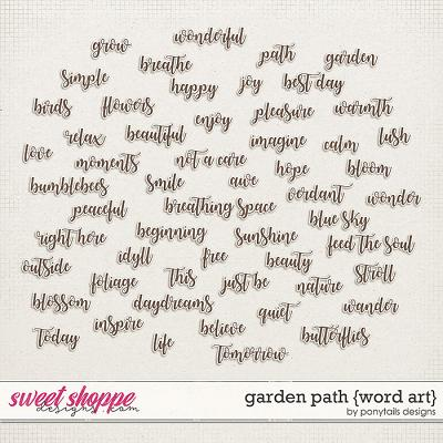 Garden Path Word Art by Ponytails