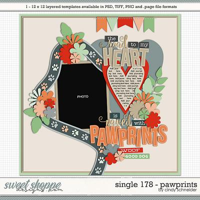 Cindy's Layered Templates - Single 178: Pawprints by Cindy Schneider