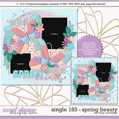 Cindy's Layered Templates - Single 183: Spring Beauty by Cindy Schneider