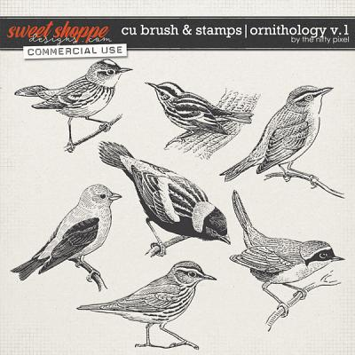 CU BRUSH & STAMPS | ORNITHOLOGY V.1 by The Nifty Pixel