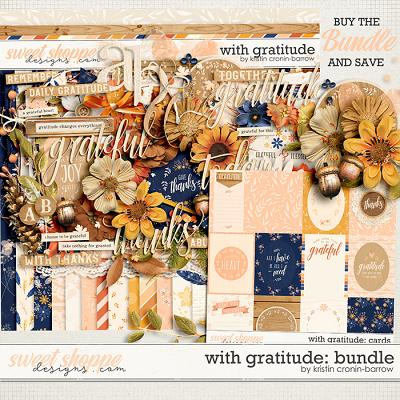 With Gratitude: Bundle by Kristin Cronin-Barrow