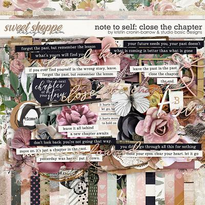 Note To Self: Close The Chapter Kit by Kristin Cronin-Barrow & Studio Basic