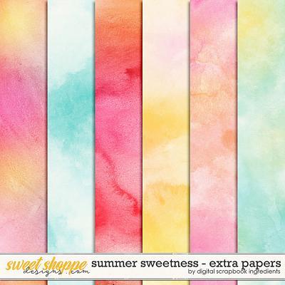 Summer Sweetness | Extra Papers by Digital Scrapbook Ingredients