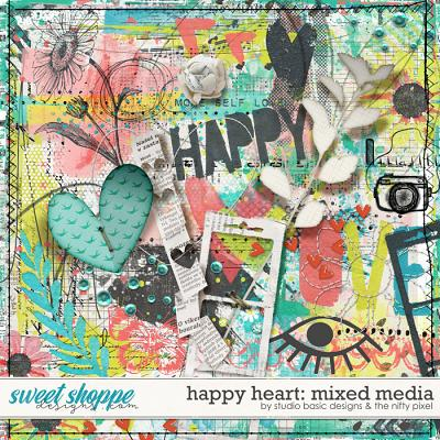 Happy Heart Mixed Media by Studio Basic and The Nifty Pixel