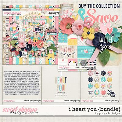 I Heart You Bundle by Ponytails