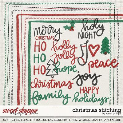 CHRISTMAS STITCHING by Janet Phillips