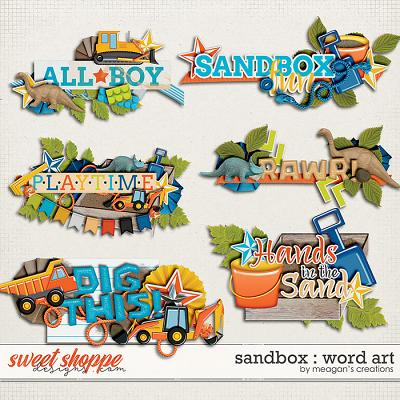 Sandbox : Word Art by Meagan's Creations