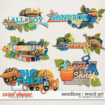 Sandbox : Word Art by Meagan's Creations