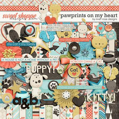 Pawprints On My Heart by River Rose Designs