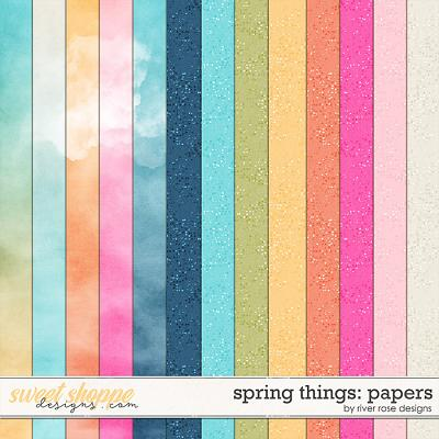 Spring Things: Papers by River Rose Designs
