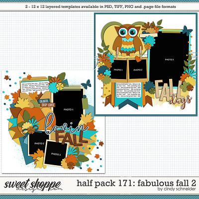 Cindy's Layered Templates - Half Pack 171: Fabulous Fall 2 by Cindy Schneider