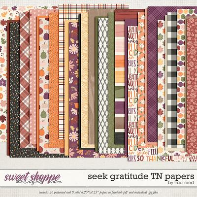Seek Gratitude TN Papers by Traci Reed