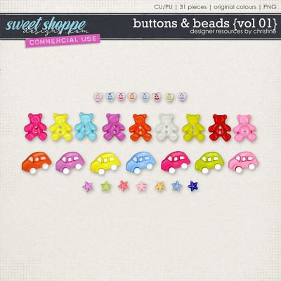 Buttons & Beads {Vol 01} by Christine Mortimer