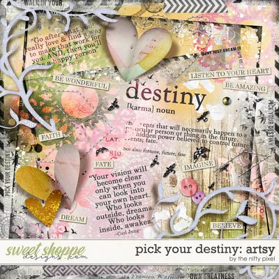 PICK YOUR DESTINY | MIXED MEDIA by The Nifty Pixel