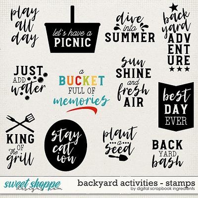 Backyard Activities | Stamps by Digital Scrapbook Ingredients