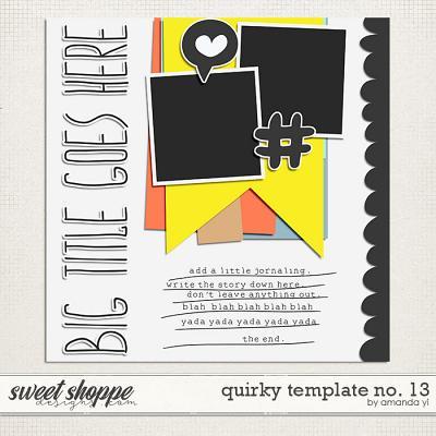 Quirky template no. 13 by Amanda Yi