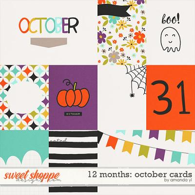 12 Months: October Cards by Amanda Yi