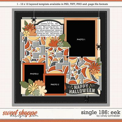 Cindy's Layered Templates - Single 186: EEK by Cindy Schneider