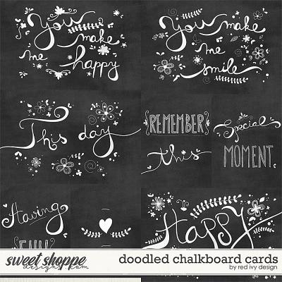 Doodled Chalkboard Cards by Red Ivy Design
