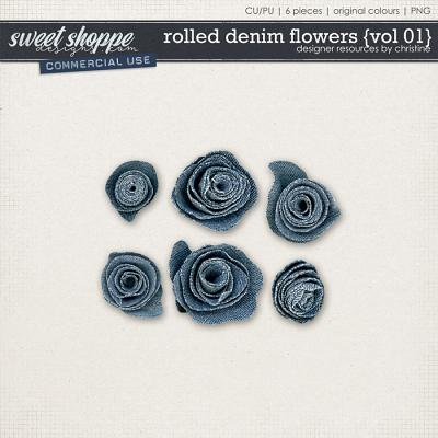 Rolled Denim Flowers {Vol 01} by Christine Mortimer