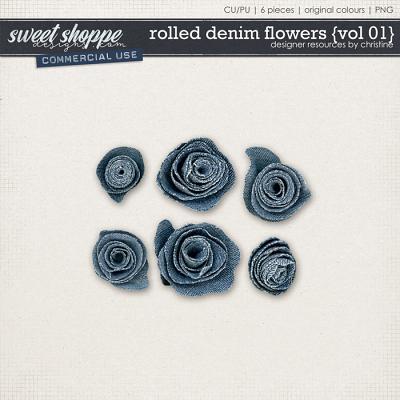 Rolled Denim Flowers {Vol 01} by Christine Mortimer
