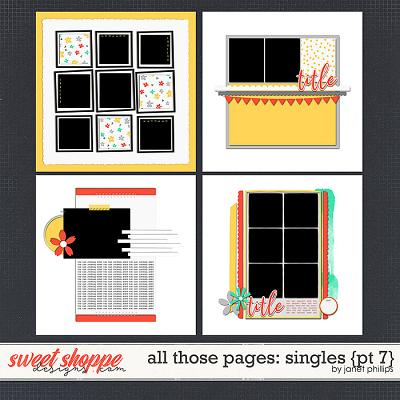 ALL THOSE PAGES: SINGLES {part 7}  by Janet Phillips