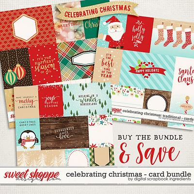 Celebrating Christmas: Card Bundle by Digital Scrapbook Ingredients