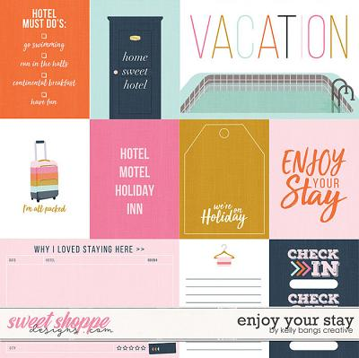 Enjoy Your Stay Cards by Kelly Bangs Creative