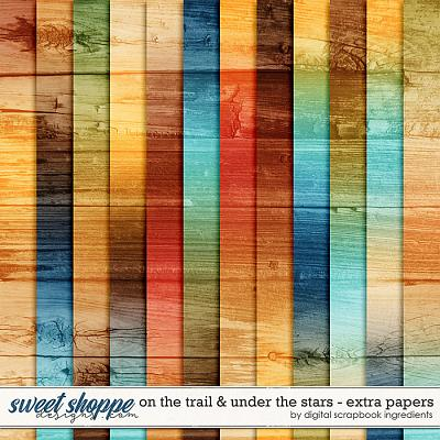 On The Trail & Under The Stars | Extra Papers by Digital Scrapbook Ingredients