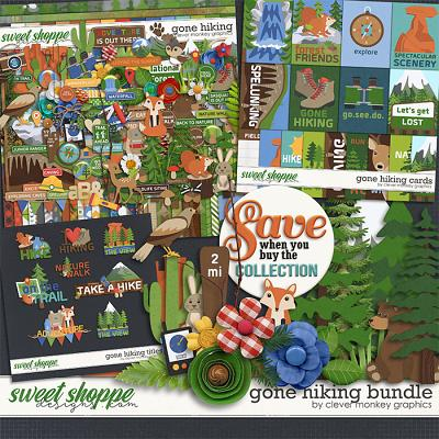 Gone Hiking Bundle by Clever Monkey Graphics