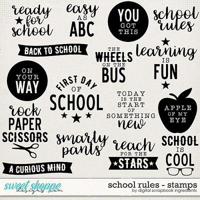 School Rules | Stamps by Digital Scrapbook Ingredients
