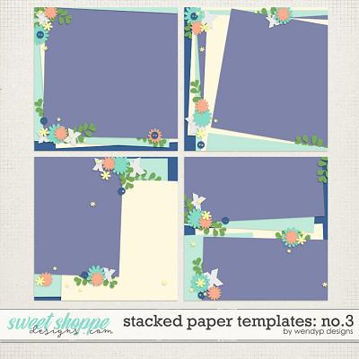 Stacked paper templates No:3 by WendyP Designs