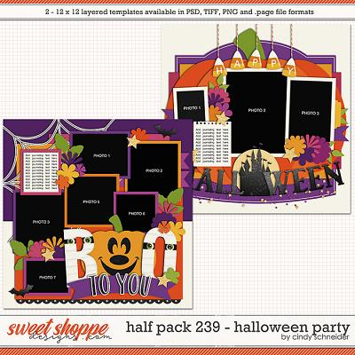 Cindy's Layered Templates - Half Pack 239: Halloween Party by Cindy Schneider
