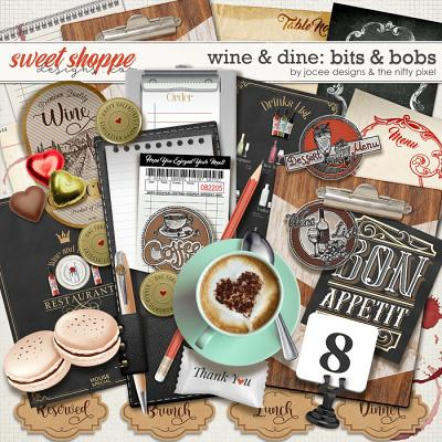 Wine and Dine Bits and Bobs by JoCee Designs and The Nifty Pixel