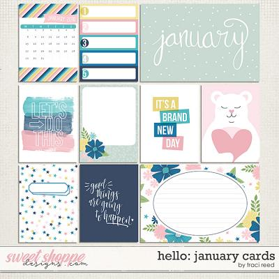 Hello: January Cards by Traci Reed
