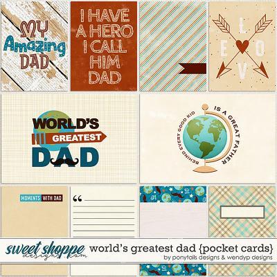 World's greatest dad - cards by Ponytails Designs & WendyP Designs