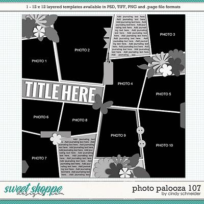 Cindy's Layered Templates - Photo Palooza 107 by Cindy Schneider